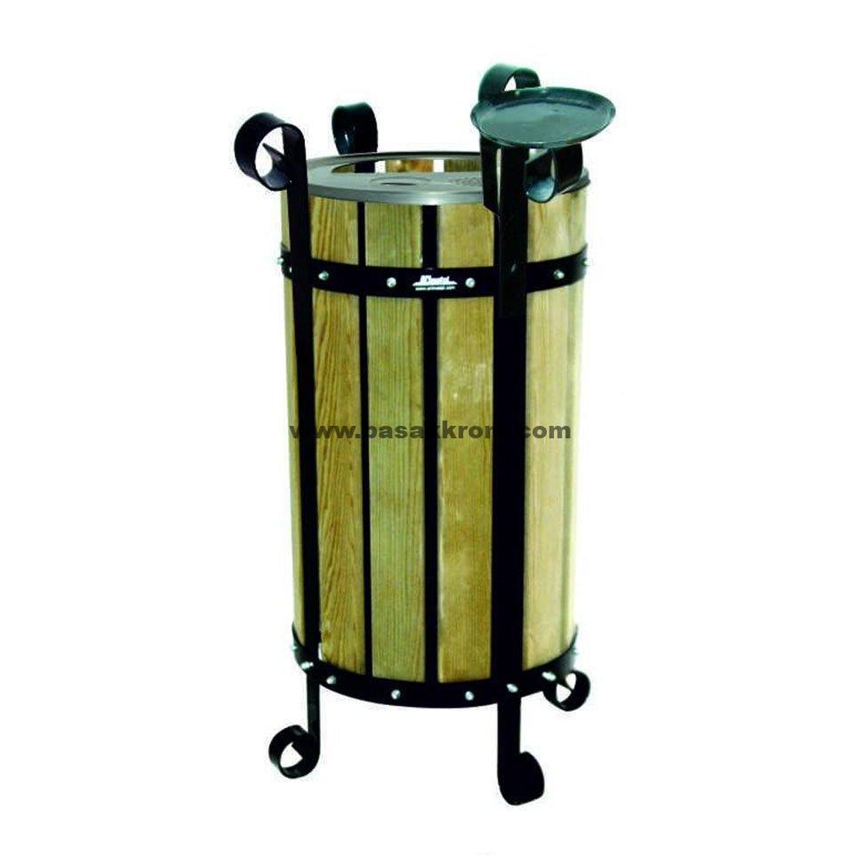 bahçe için çöp kovası,lux çöp kovası,ahşap kaplama çöp kovası,bahçe içi sigara söndürme çöpü,otel tipi çöp kovası